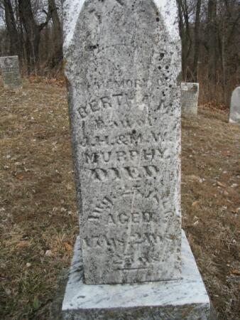 MURPHY, BERTHA M. - Van Buren County, Iowa | BERTHA M. MURPHY