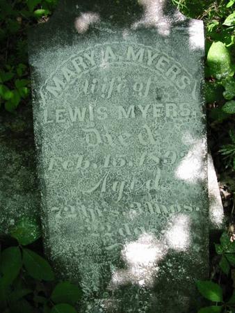 MYERS, MARY A. - Van Buren County, Iowa | MARY A. MYERS