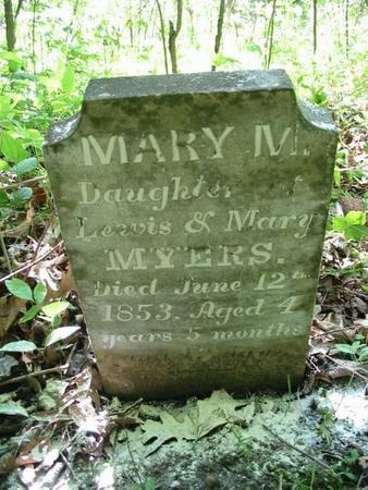 MYERS, MARY M. - Van Buren County, Iowa | MARY M. MYERS