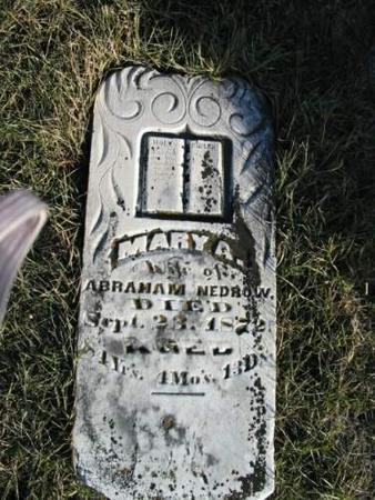 NEDROW, MARY A. - Van Buren County, Iowa | MARY A. NEDROW