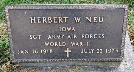 NEU, HERBERT W - Van Buren County, Iowa | HERBERT W NEU