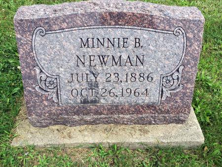 MUNTZ NEWMAN, MINNIE B. - Van Buren County, Iowa | MINNIE B. MUNTZ NEWMAN