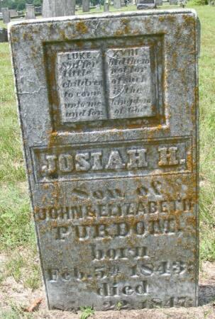 PURDOM, JOSIAH H. - Van Buren County, Iowa | JOSIAH H. PURDOM