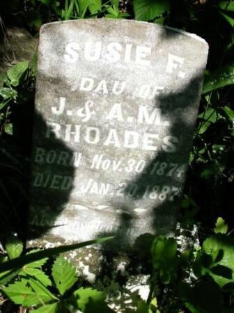 RHOADES, SUSIE F. - Van Buren County, Iowa   SUSIE F. RHOADES