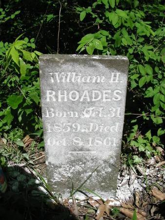 RHOADES, WILLIAM H. - Van Buren County, Iowa | WILLIAM H. RHOADES