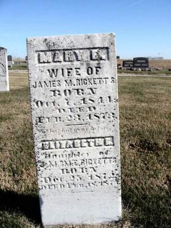 RICKETTS, MARY E. - Van Buren County, Iowa | MARY E. RICKETTS