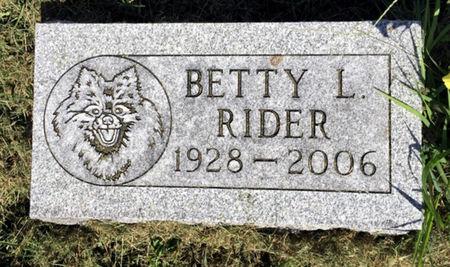 SHOEMAKER RIDER, BETTY J - Van Buren County, Iowa | BETTY J SHOEMAKER RIDER