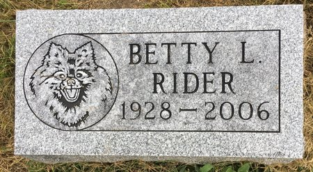 RIDER, BETTY L - Van Buren County, Iowa | BETTY L RIDER
