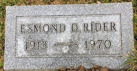 RIDER, ESMOND D - Van Buren County, Iowa | ESMOND D RIDER