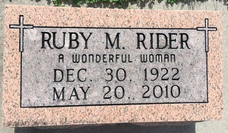 MARSH RIDER, RUBY M - Van Buren County, Iowa | RUBY M MARSH RIDER