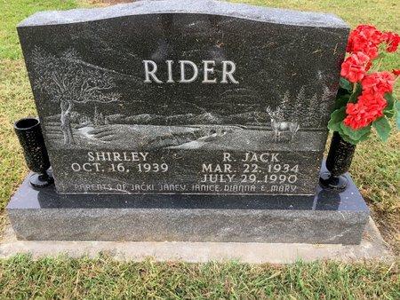 RIDER, R. JACK - Van Buren County, Iowa | R. JACK RIDER