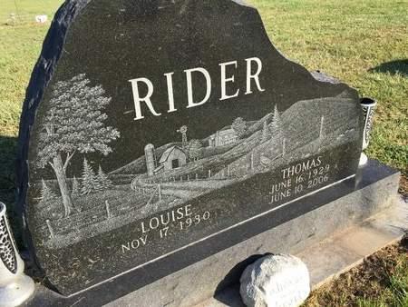 RIDER, THOMAS - Van Buren County, Iowa | THOMAS RIDER