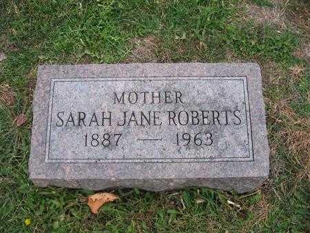 GROVES ROBERTS, SARAH JANE - Van Buren County, Iowa | SARAH JANE GROVES ROBERTS