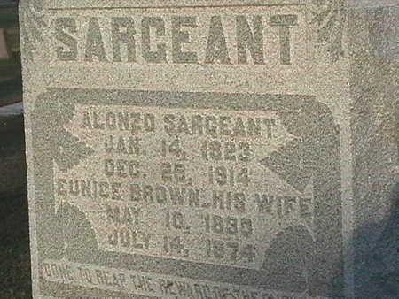 SARGEANT, EUNICE - Van Buren County, Iowa | EUNICE SARGEANT