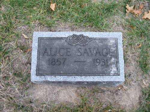 SAVAGE, ALICE - Van Buren County, Iowa | ALICE SAVAGE