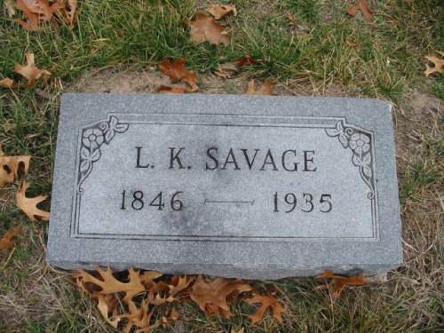 SAVAGE, L.K. - Van Buren County, Iowa | L.K. SAVAGE
