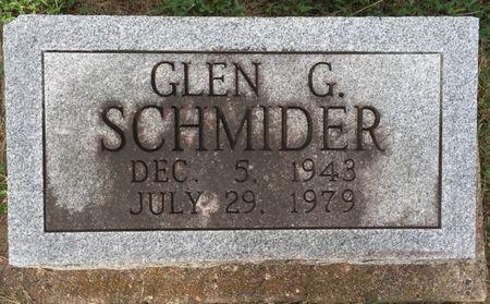 SCHMIDER, GLEN G - Van Buren County, Iowa | GLEN G SCHMIDER