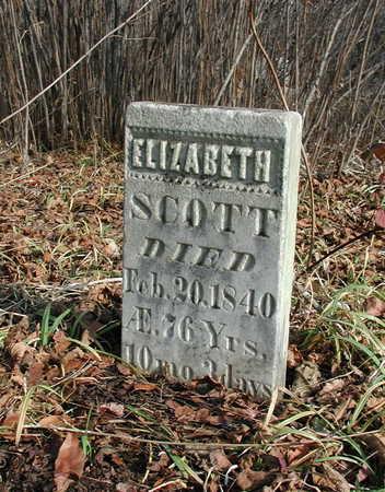SCOTT, ELIZABETH - Van Buren County, Iowa   ELIZABETH SCOTT