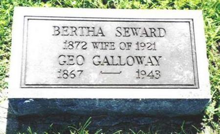 GALLOWAY, BERTHA SEWARD - Van Buren County, Iowa | BERTHA SEWARD GALLOWAY