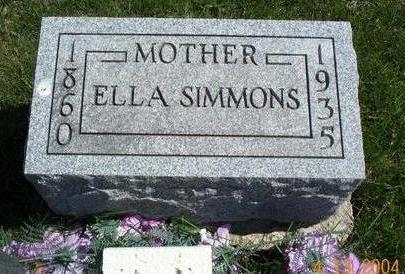 NELLIS SIMMONS, ELLA EVANGELINE - Van Buren County, Iowa | ELLA EVANGELINE NELLIS SIMMONS