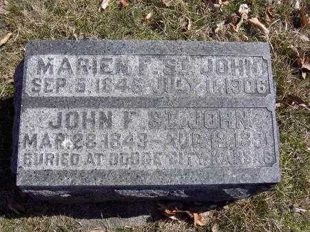 ST. JOHN, JOHN FLETCHER AND MARIEN F. - Van Buren County, Iowa | JOHN FLETCHER AND MARIEN F. ST. JOHN