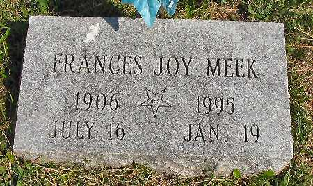 MEEK STEBBINS, FRANCES JOY - Van Buren County, Iowa   FRANCES JOY MEEK STEBBINS