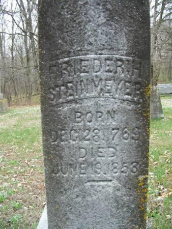 STEINMEYER, FRIEDERIH - Van Buren County, Iowa | FRIEDERIH STEINMEYER