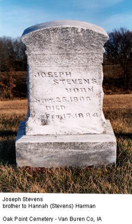 STEVENS, JOSEPH - Van Buren County, Iowa | JOSEPH STEVENS