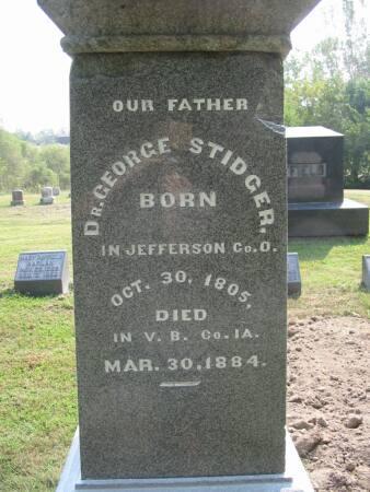 STIDGER, DR. GEORGE - Van Buren County, Iowa | DR. GEORGE STIDGER