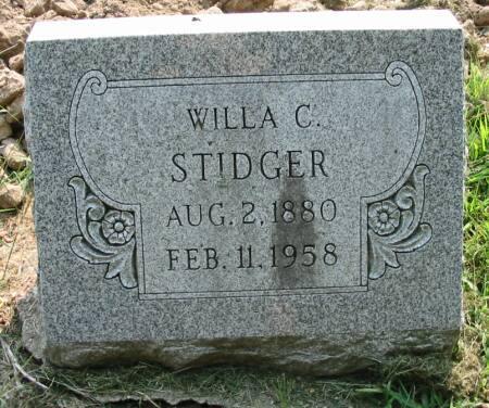 STIDGER, WILLA C. - Van Buren County, Iowa | WILLA C. STIDGER