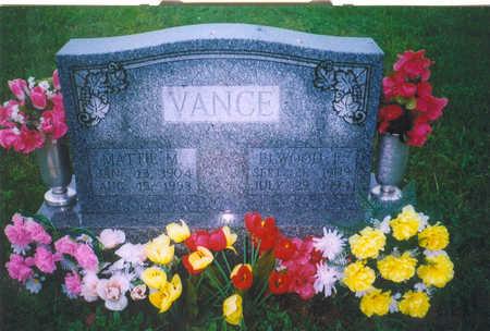 VANCE, MATTIE M. - Van Buren County, Iowa | MATTIE M. VANCE