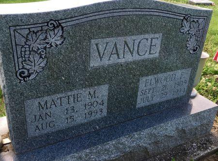 GARES VANCE, MATTIE M - Van Buren County, Iowa | MATTIE M GARES VANCE
