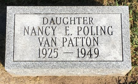 POLING VAN PATTON, NANRY E - Van Buren County, Iowa   NANRY E POLING VAN PATTON
