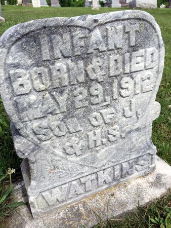 WATKINS, INFANT SON - Van Buren County, Iowa   INFANT SON WATKINS
