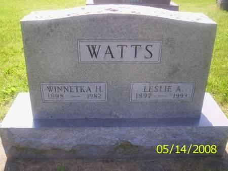 WATTS, LESLIE  A. - Van Buren County, Iowa | LESLIE  A. WATTS