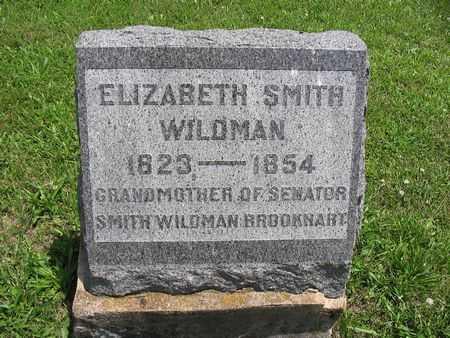 SMITH WILDMAN, ELIZABETH - Van Buren County, Iowa   ELIZABETH SMITH WILDMAN