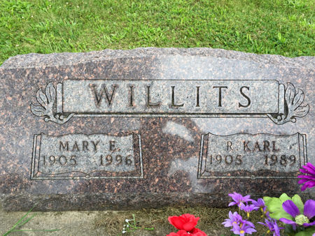 WARD WILLITS, MARY E. - Van Buren County, Iowa | MARY E. WARD WILLITS