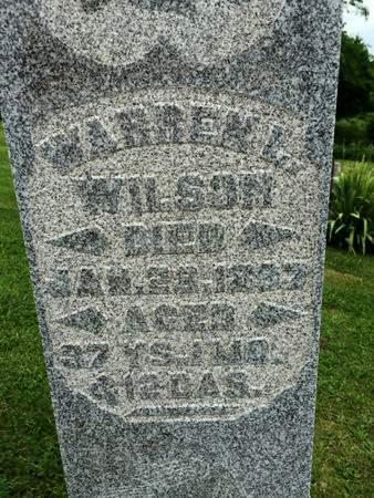 WILSON, WARREN L. - Van Buren County, Iowa | WARREN L. WILSON