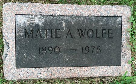 KRENMYRE WOLFE, MATIE A - Van Buren County, Iowa | MATIE A KRENMYRE WOLFE