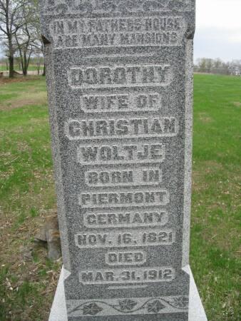 WOLTJE, DOROTHY - Van Buren County, Iowa | DOROTHY WOLTJE
