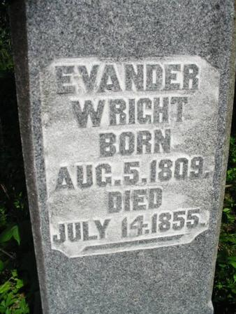 WRIGHT, EVANDER - Van Buren County, Iowa | EVANDER WRIGHT