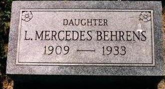 BEHRENS, L. MERCEDES - Wapello County, Iowa | L. MERCEDES BEHRENS