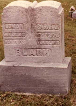 HENRY BLACK, SARAH JANE - Wapello County, Iowa | SARAH JANE HENRY BLACK