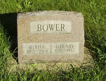 BOWER, DAVID HENRY - Wapello County, Iowa | DAVID HENRY BOWER