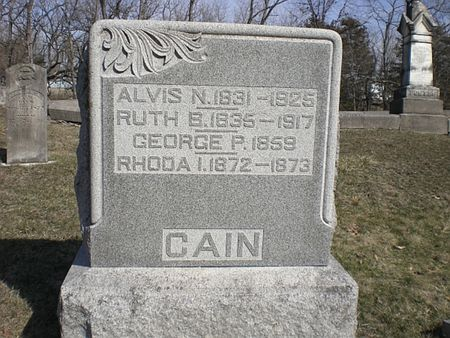 GOFF CAIN, RUTH B. - Wapello County, Iowa | RUTH B. GOFF CAIN