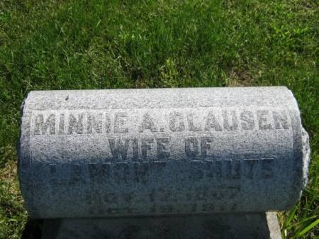 CLAUSEN, MINNIE A - Wapello County, Iowa | MINNIE A CLAUSEN