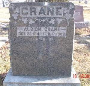 CRANE, ALBION - Wapello County, Iowa   ALBION CRANE