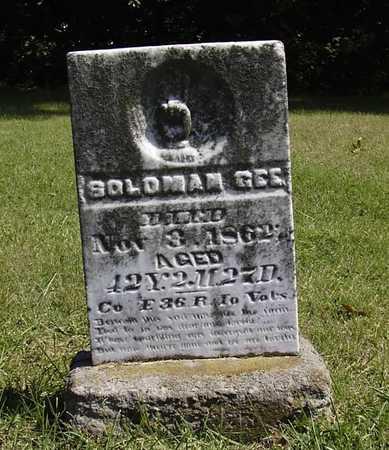 GEE, SOLOMAN - Wapello County, Iowa | SOLOMAN GEE