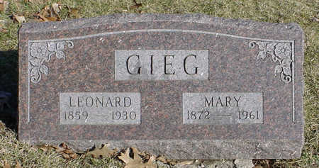 MASER GIEG, MARY - Wapello County, Iowa | MARY MASER GIEG
