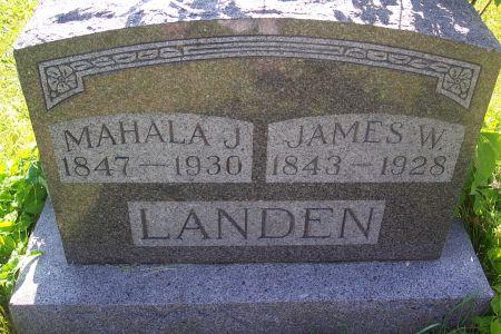 LEONARD LANDEN, MAHALA JANE - Wapello County, Iowa | MAHALA JANE LEONARD LANDEN
